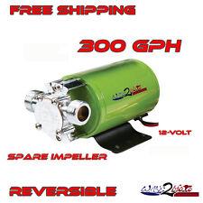 Ballast Bag Reversible Water Pump 300gph - WakeBoard Board Boat Fat Sac Wake 12v