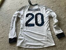 NWT adidas 2012/13 Real Madrid home jersey Higuain mens SMALL #20 white soccer