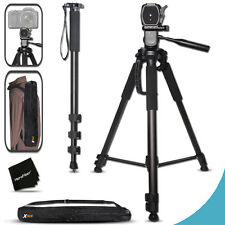 Canon EOS Rebel T5 PROFESSIONAL 75 inch TRIPOD + PRO 72 inch MONOPOD