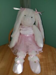 "Bearington Collection Big Bunny Tutu Ballerina 30"" Plush Floppy Soft Jumbo Doll"