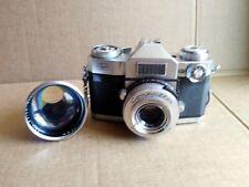 Vintage Zeiss Ikon Contaflex 35mm Camera w/ 2 Carl Zeiss Lens & Case
