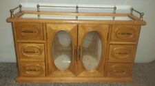 Vintage Wooden Musical Jewelry Box Armoire