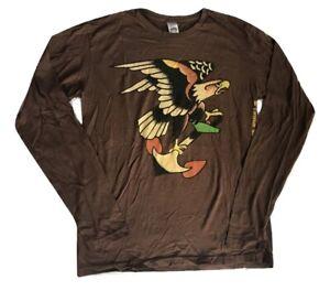Ed Hardy Men's Long Sleeve EAGLE T-Shirt Tee Size Large