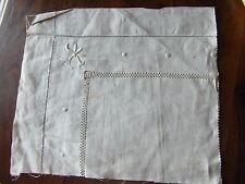 recup ANCIEN échantillon de  broderie jours toile metis@OLD fabric mongrel embro