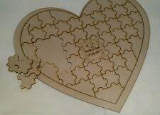Guest book alternative heart jigsaw puzzle Heart Customized wedding Guestbook