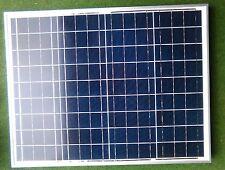 Panel Solar De 50 vatios + Cable 5M Barco Caravana Camper Autocaravana Beach Hut Bongo 50W