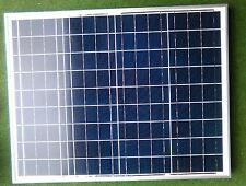 50 WATT SOLAR PANEL + 5M CABLE BOAT CARAVAN CAMPER MOTORHOME BEACH HUT BONGO 50W
