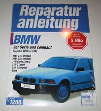 Reparaturanleitung BMW E36 316 + 318 i iS ti Cabrio Coupe Compact, Bauj. 1991-97