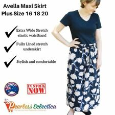 Avella Plus Size Long Skirts for Women