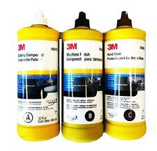 3M 05973 05996 05990 Buffing & Polishing Compound Hand Glaze Package