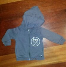 Bonds Boys Size 3 - 6 months Grey Hoodie Hooded Jumper - Size 00