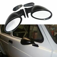 1 Pair Vintage Car Door Side View Wing Mirror Matte Black with Gaskets Universal