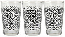 Set of 3 Eye Catching drinking glasses tumblers for Water Juice