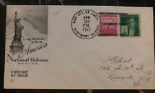 1941 Usa Marine Detachment In St Lucia Cover to Newark Ny National Defense
