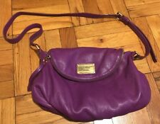 Marc by Marc Jacobs Classic Natasha Purple Leather Crossbody Bag
