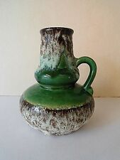 Jopeko Keramik Fat Lava Vase Henkelvase grün 70 er Modell Nr.402-16 green Glaze