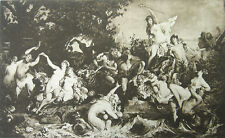 NAKED NUDE GIRLS WOMEN NYMPHS AT WEDDING ORGY ~ Old 1893 Sexy Erotica Art Print
