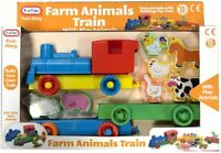 Fun Time 55921 Kids Push Along Farm Train with Play Animals for Children