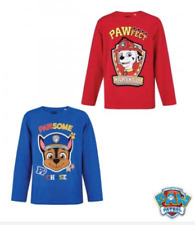 Paw Patrol Chicos Camiseta De Manga Larga, T shirt, Top, producto con licencia de Chase,