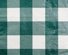 "25 YDS BULK ROLL VINYL TABLECLOTH, CHESSMATE HUNTER GREEN 54"" W"