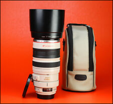 Estabilizador De Imagen Canon EF 100-400mm F4.5-5.6 USM Zoom Lente + L IS F/R CAPS + Capucha