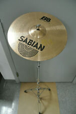 """SABIAN B8 SERIES 14"""" THIN CRASH CYMBAL + STRAIGHT STAND for YOUR DRUM SET! #K84"""