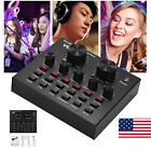 New V8 Audio Mixing USB Headset Microphone Webcast Live External Sound Card A6Y9