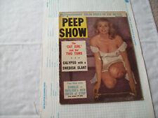 Peep Show Magazine 11/57 snappy girlie burlesque VG Condition