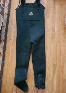 Caddis Wading Systems Boot Foot Waders Neoprene Nylon Size Medium Men's