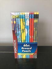 Pentech Reward Pencils 60 Count Assorted Styles No. 2 Lead Classroom Teachers