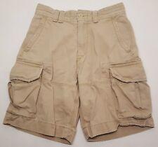 Ralph Lauren Polo Men's Teen's Size 29 Dark Beige Khaki Cargo Shorts A092