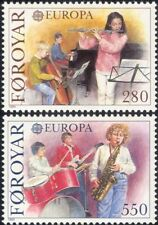 Faroes 1985 Europa/Music/Piano/Guitar/Drums/Flute/Instruments/Arts 2v set n30266