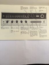 "H H Scott Model 342-C Fm Stereo Receiver ""Original"" Operating Manual 11 Pages"