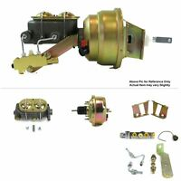 """1958-64 Chevy Bel Air FW Mount Pwr 7"""" Single Brake Booster Kit Disc/Disc LS3 LS6"""