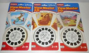 3 STÜCK VIEWMASTER VIEW-MASTER SETS - MICKEY MOUSE JUNGLE BUCH MEIN KLEINES PONY