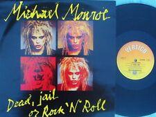 Michael Monroe ORIG UK PS 12 Dead jail or rock N roll NM '89 Vertigo Hanoi Rocks