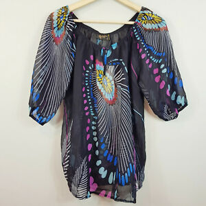 [ BARBARELLA ] Womens Print Blouse Top NEW | Size AU 12