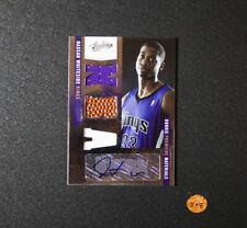 2010-11 Absolute Hassan Whiteside Rookie Autograph Triple Relic Sacramento Kings
