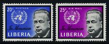 Liberia 401, C137-8 MNH Dag Hammarskjold