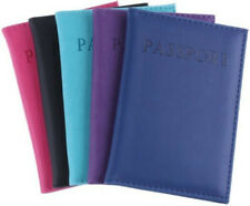 Multi color PU Leather travel PASSPORT HOLDER COVER Protector CASE U.S. New