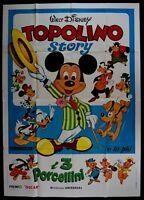 M181 Manifesto 4F Mickey Story, Mickey Mouse, Donald, Minnie Pluto,Walt Disney
