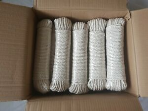 Box of 20 - 6mm Macrame Rope 100% Natural Cotton 30 M each - 600 metre total