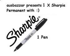 5 X Sharpie Black Fine Point Permanent Marker Pen