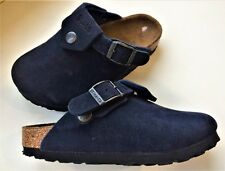 BIRKI'S BIRKENSTOCK Navy Blue Sandals Slip Ons Clogs Sz 28 Narrow Width 10-10.5