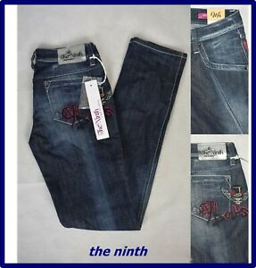 jeans da donna elasticizzato a vita bassa vintage slim fit stretch denim W27L32