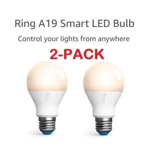 2-PACK Ring Smart Lightbulb - Dimmable Neutral White - A19 LED Bulb - 800 Lumens