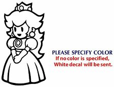 Mario Princess Peach Game Movie TV Vinyl Sticker Decal Car Window Bumper Wall 7""