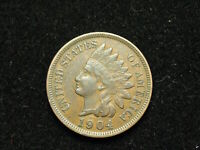 MUST GO SALE!!  XF 1904 INDIAN HEAD CENT PENNY w/ FULL LIBERTY & DIAMONDS #61v