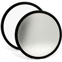 30cm Ø 2-in-1 Reflecktor Studio Faltreflektor Foto Diffusor Silber Weiß + Tasche
