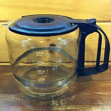 12 Cup GLASS Coffee Carafe REPLACEMENT POT 2096 Black Lid/Handle 1198 Decanter